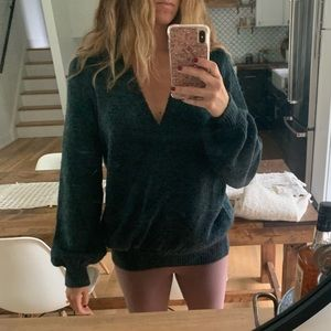 Free People Forest Green Sweater size small